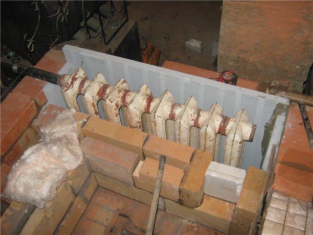 Теплообменник, изготовленный из чугунного радиатора