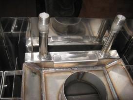 Теплообменник плоский, установлен вертикально