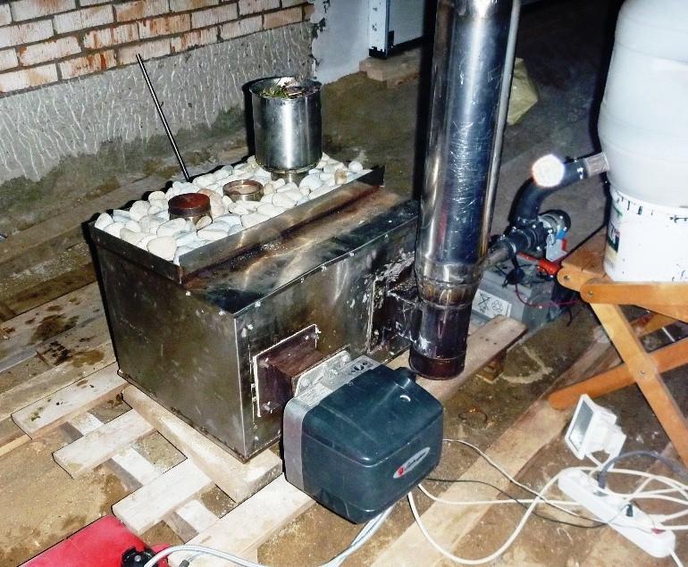 Универсальная банно-отопительная жаро-нагнетательная дизельная Печь Маслова