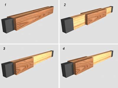 Усиление существующих деревянных балок боковыми накладками