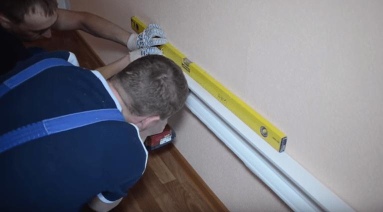 Установка кабельного канала