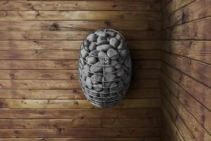 Финская каменка в виде капли