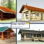 Баня с беседкой под одной крышей – проекты + строительство своими руками