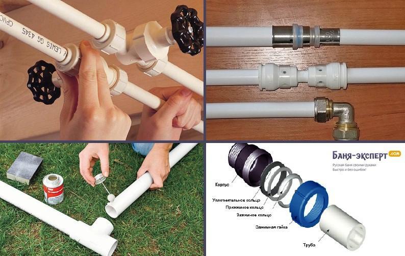 Соединение труб и фитингов