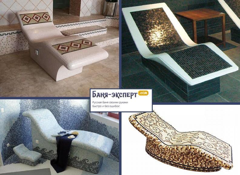 Лежак для хаммама