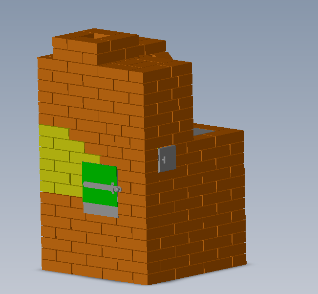 Зеленым показана дверца духового шкафа