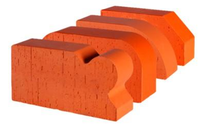 Кирпич печной полнотелый LODE JANKA красного цвета из натуральной глины с гладкой поверхностью