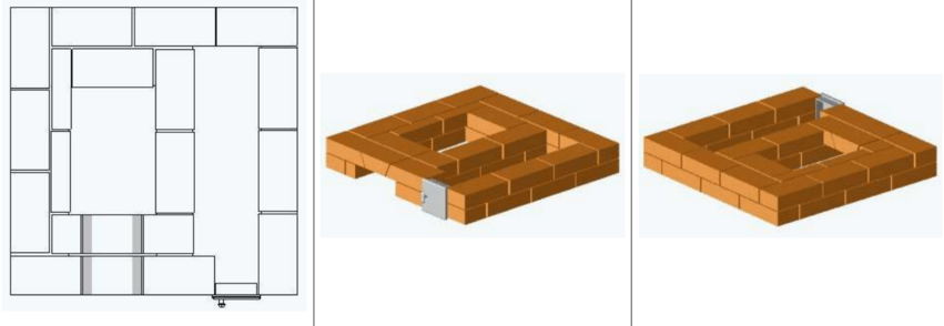 5 ряд, уложен замковый кирпич