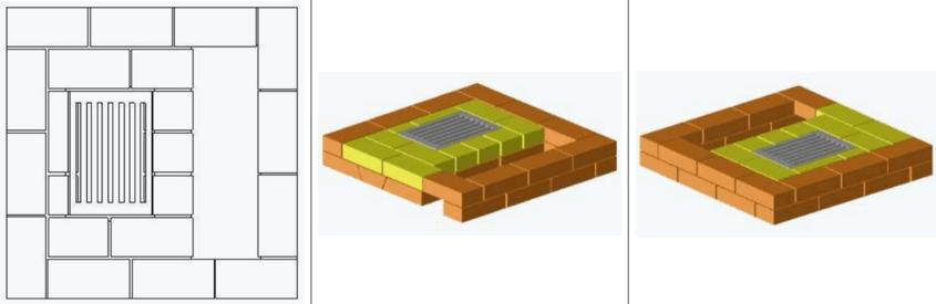 6 ряд, уложена решетка колосника