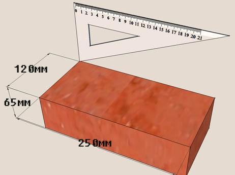 Стандартные размеры полнотелого кирпича