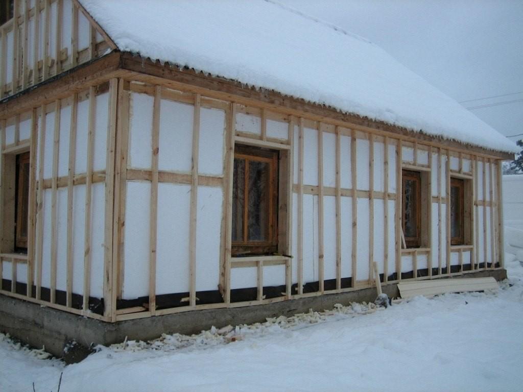 Утепление стен бани изнутри и снаружи