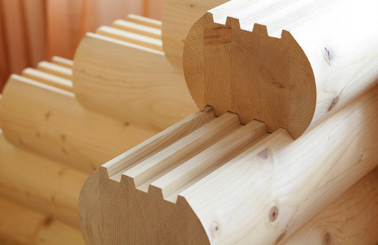 Клееный брус для строительства стен бани