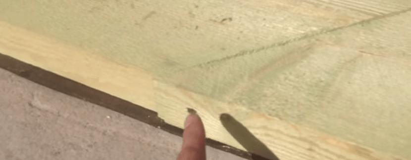 Соединение обвязочной доски по длине. Фиксация саморезами