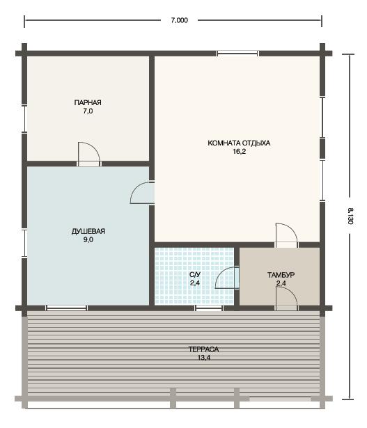 Проект 2 - план бани