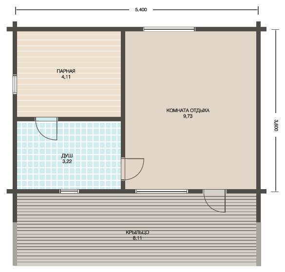Проект 3 - план бани