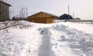 Продолжаем строительство бани весной