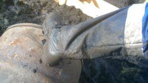 Сильная грязь на участке