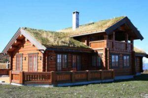 Дом из лафета. Норвежский замок