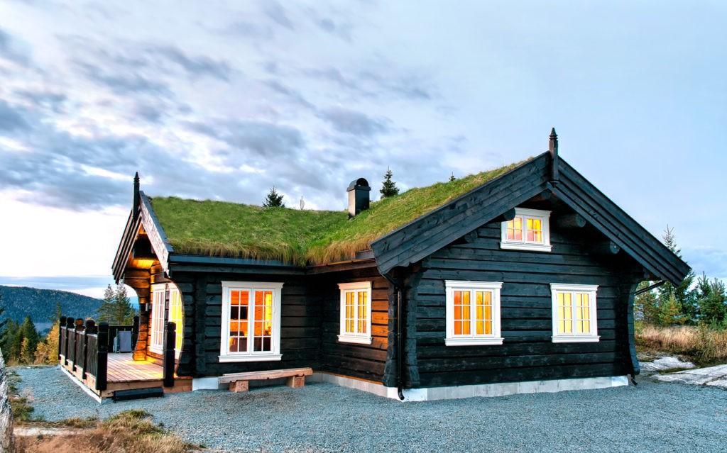 Традиционный скандинавский деревянный дом
