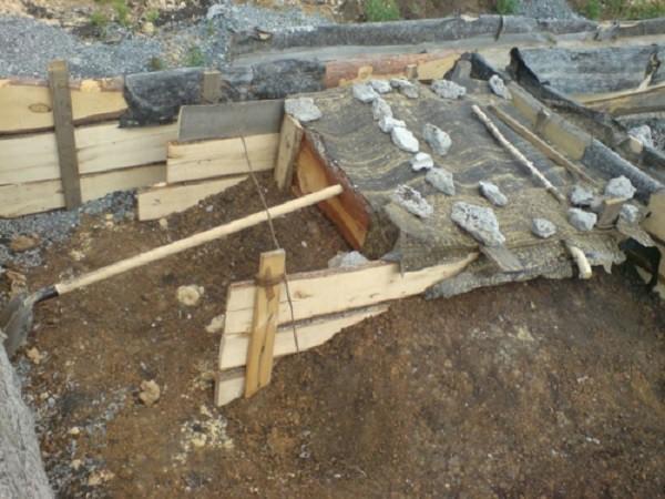 Накрываем бетон и ждем