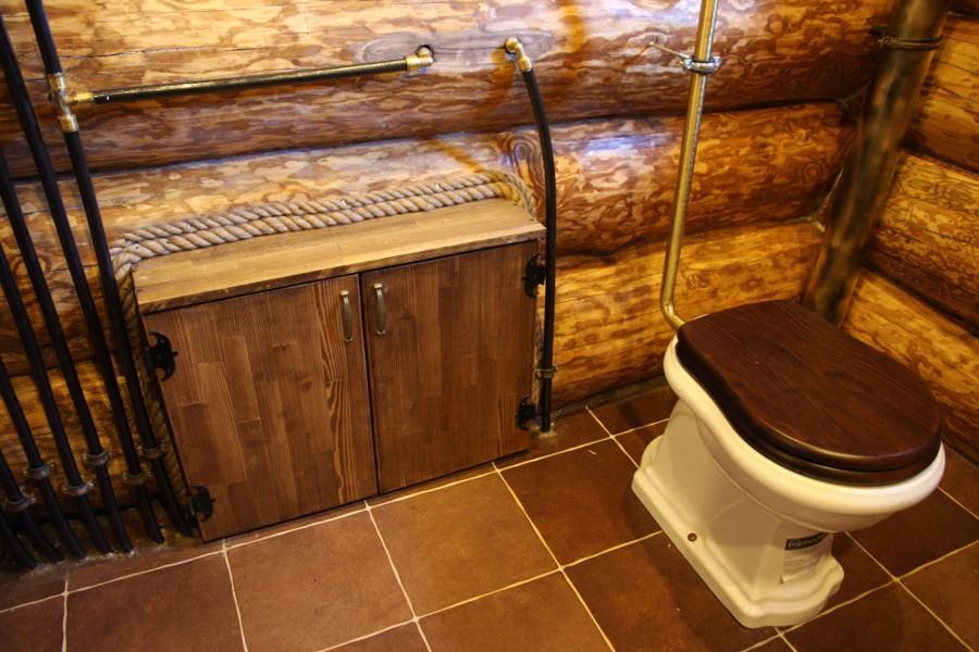 Организация туалета в бане