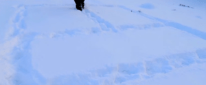 """Натопчите"" на снегу габариты будущей бани""Натопчите"" на снегу габариты будущей бани"