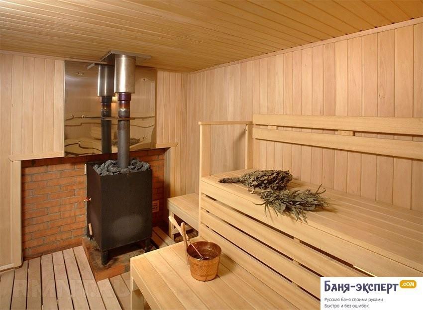 Как установить печь в бане