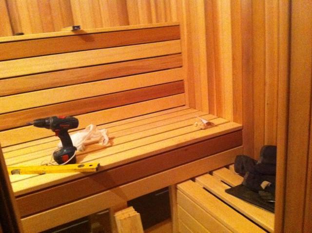 Парная в бане, отделочные работы