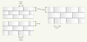 Схема цепной перевязки газоблоков