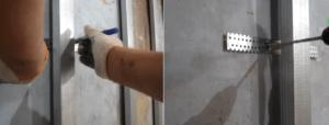 Сверление отверстия и фиксация подвеса