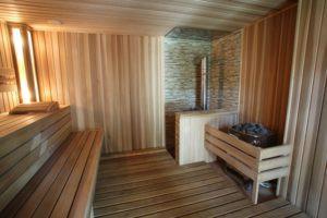 Сочетание вагонки из разныхпород древесины для отделки стен и потолка