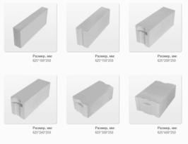 Формы и размеры блоков