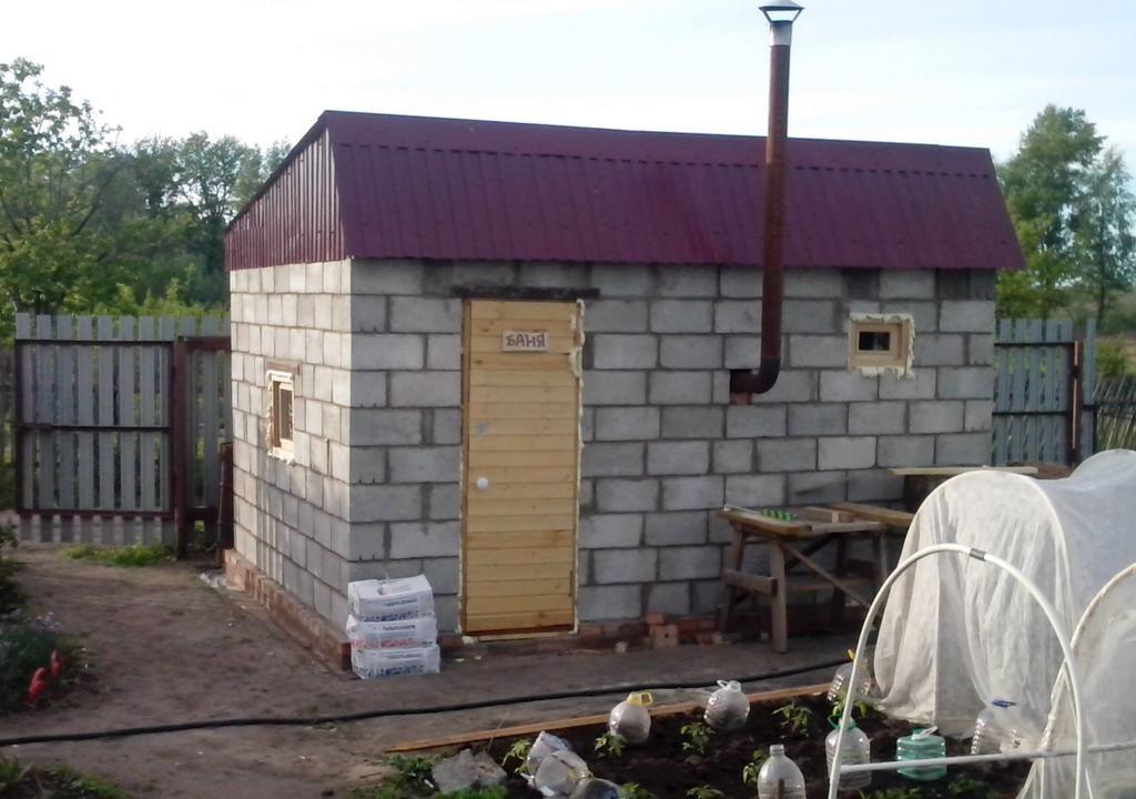 Как построить баню без основания