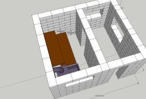 Пример чертежа бани из блоков