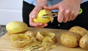 Картофель свежий или очистки