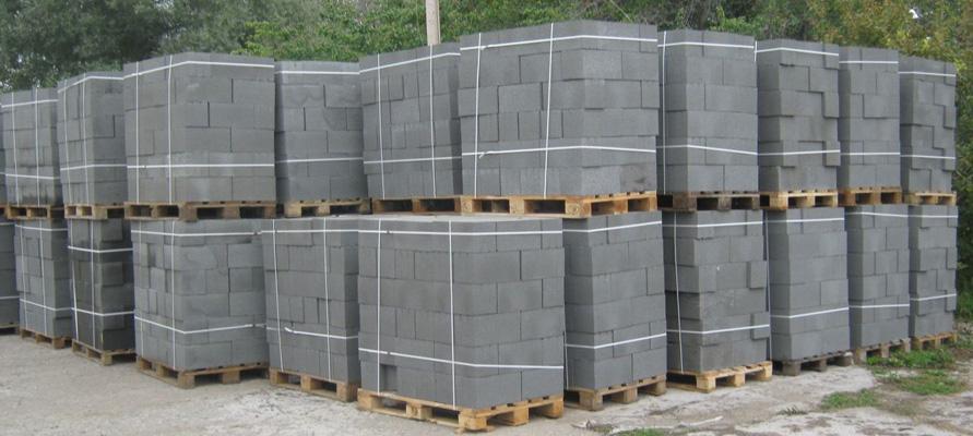 Блоки стеновые на поддонах