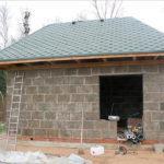 Как построить баню из керамзитных блоков