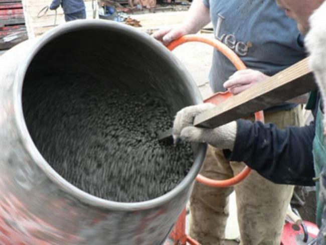Приготовление раствора для кладки керамзитобетонных блоков