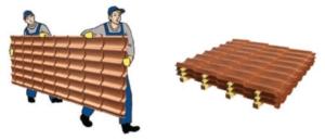 Транспортировка и складирование профнастила