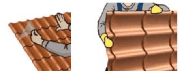 Удаление защитной пленки и использование рукавиц при работе обязательно