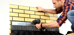 Прикручивание металлической рейки