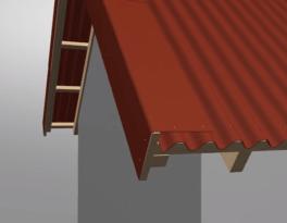 Схема оформления щипца, доска вплотную к ондулину