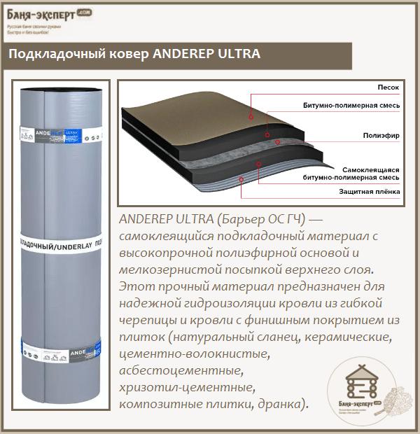 Подкладочный ковер ANDEREP ULTRA