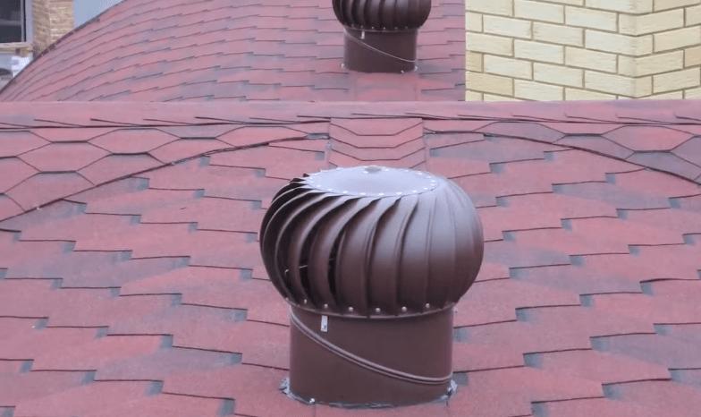 Вариант установленной проходки вентиляционной трубы