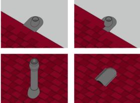 Схема установки проходных элементов