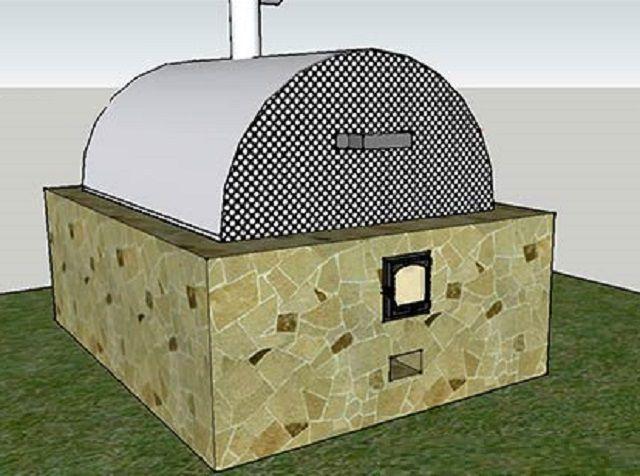 Печь можно отделать керамической плиткой