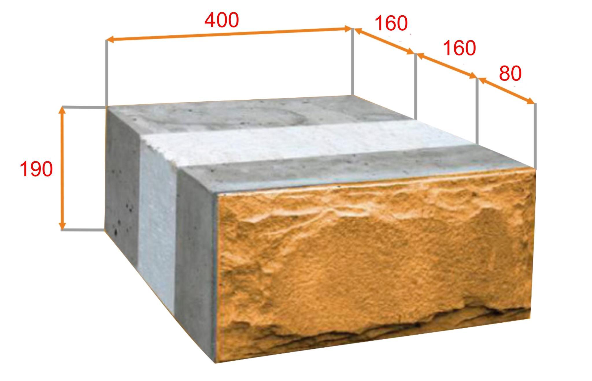 Четырехслойный блок с дополнительным несущим слоем