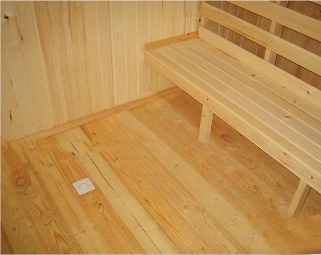 Сплошной деревянный пол